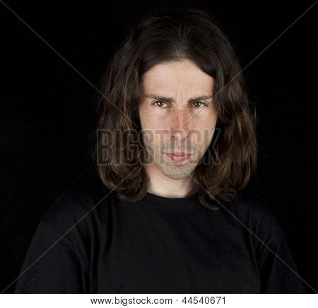 man and the long hair