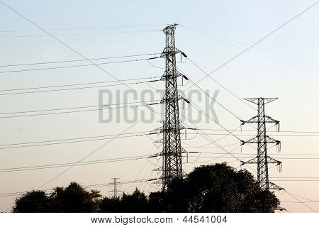 Two The High Voltage Power Pylons.