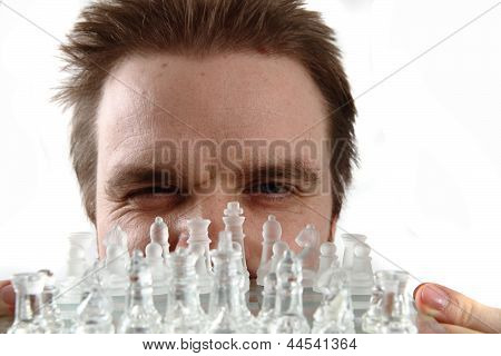 Man And Glass Chess Set