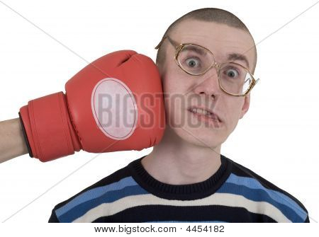 The Man In Spectacles Taking Punch