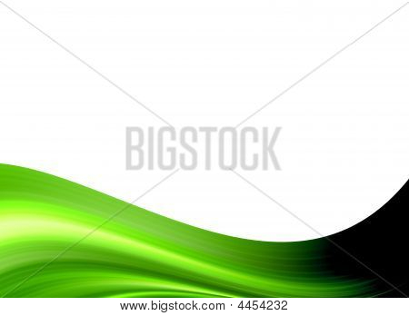 Verde oscuro sobre fondo blanco