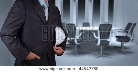 Engineer Businessman Success Working With His Board Room