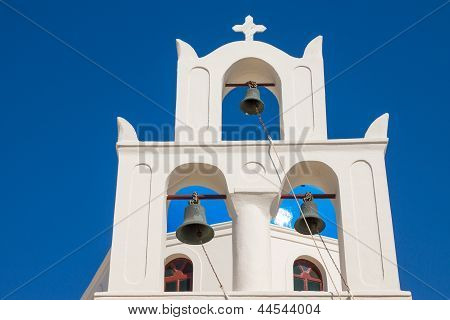 Traditional belltower of a greek church