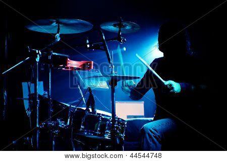 Drummer On A Gig