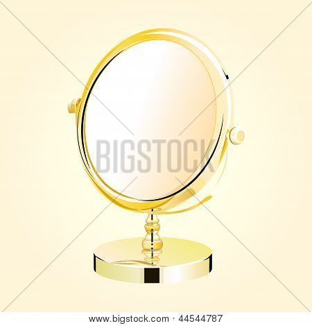 Vector Metal Make-up Mirror.