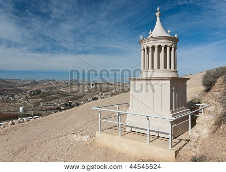 A Reconstruction Of The Tomb Of Herod The Great In Herodion, Judean Desert, Israel