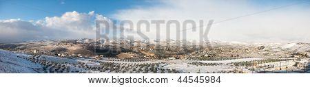 View Of Palestine In Winter - West Bank, Israel