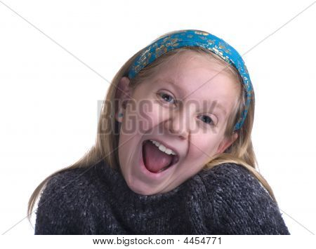 Ecstatic Girl In Sweater