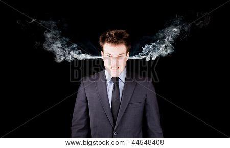 Retrato de um empresário furioso
