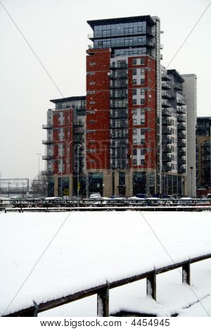 Whitehall Waterfront In The Snow