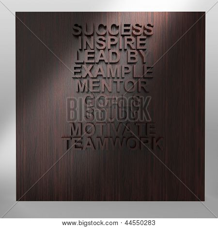 Businessman Thinking Of Success Business Diagram On Wood Wall