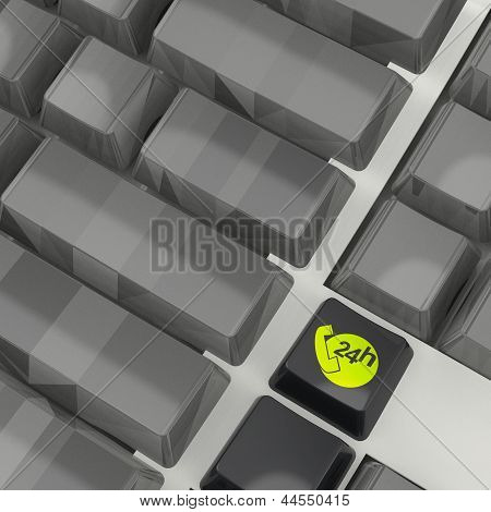Suppor And Service 24 Hour Keyboard Button