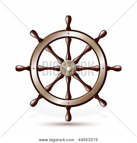 Steering wheel for ship