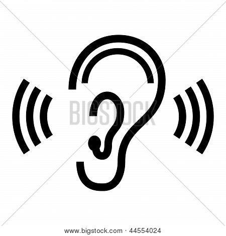 Vector símbolo de oreja