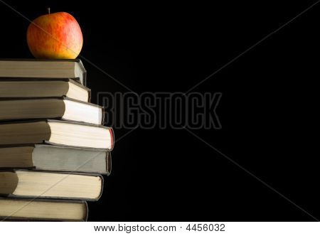 A Red Apple On A Books