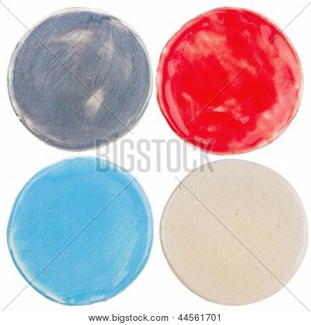 Handmade Pottery Circles
