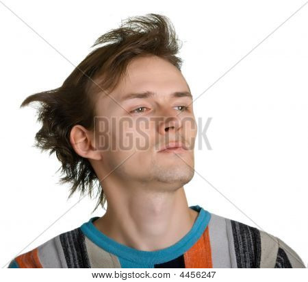 Man With Shaggy Hair
