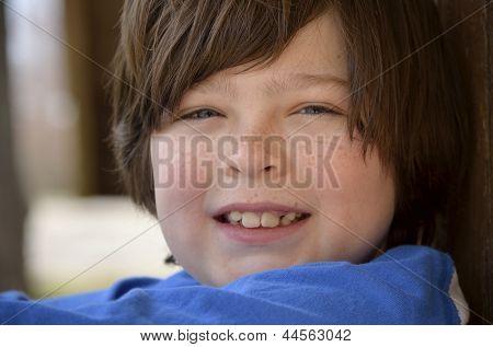 Close Portrait Of A Young Boy