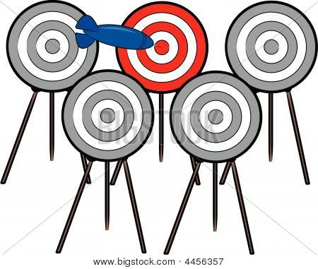 Dart Finding Right Target.