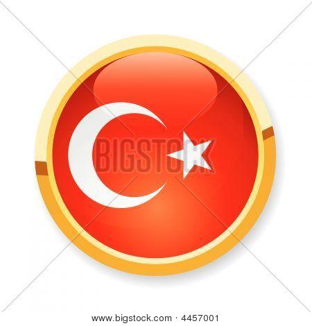 Turkey Flag Button