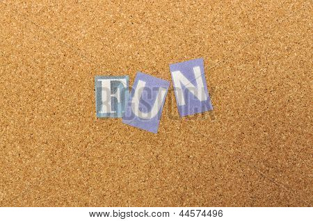 Fun Word Made From Newspaper Letter