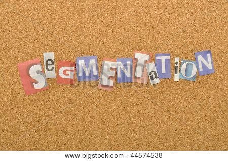 Segmentation Word Made From Newspaper Letter