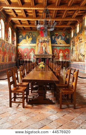 Castello di Amorosa Winery Great Hall in Napa Valley