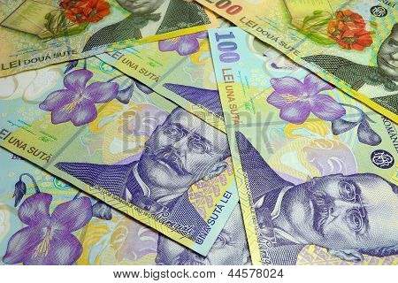 Rumänische Lei-Banknoten