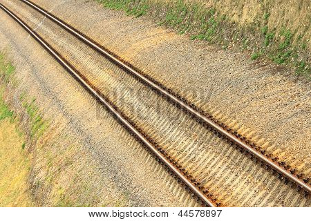 Abstract view of railroad turnout