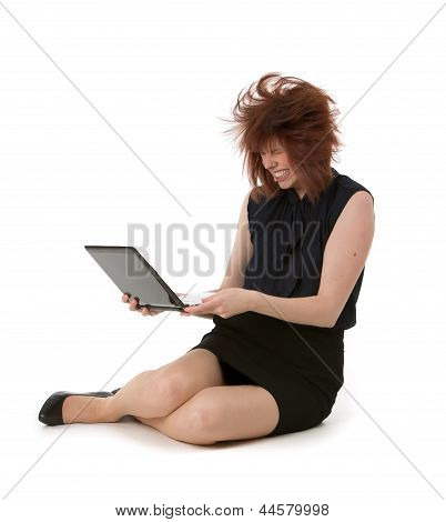 Woman Throwing A Temper Tantrum