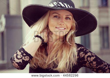 Portrait Of Pretty Cheerful Woman