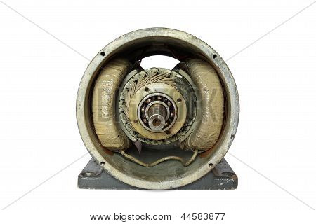 Dissasembled old DC electric motor