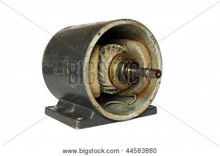 Dissasembled dc electromotor