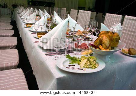 Catering - primer plano de la mesa festiva