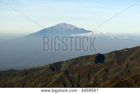 View From Mount Kilimanjaro On A Mount Meru
