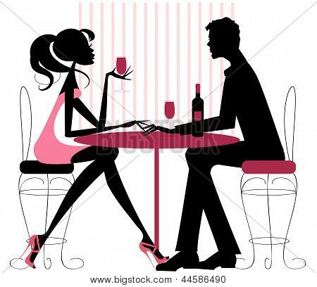 Couple Sharing Romantic Dinner