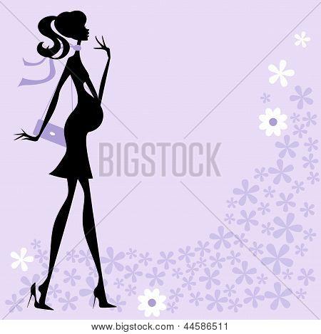 Chic Modern Pregnant Woman