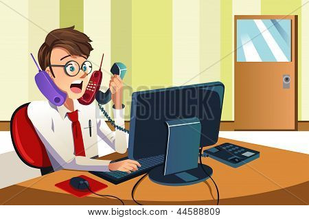 Busy Businessman On The Phone