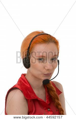 Attractive Young Call Centre Operator