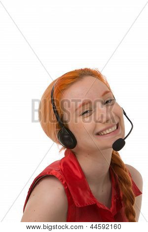 Happy Laughing Call Centre Operator