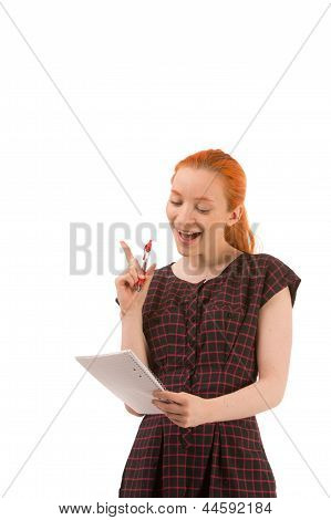 Woman Busy Giving A Presentation