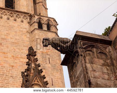 Gargoyle Catholic Barcelona Cathedral Catalonia Spain