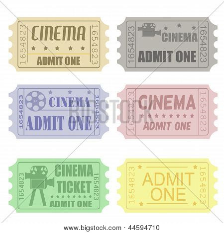 Set Of Cinema Tickets
