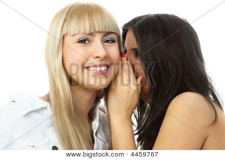 zwei schöne klatschen Mädchen