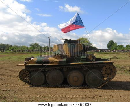 Old Tank In Army Parade