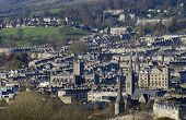stock photo of avon  - View over the city of Bath from Priory Park - JPG