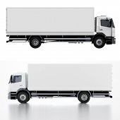 stock photo of semi trailer  - Delivery  - JPG