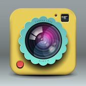App design yellow photo camera icon