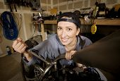 Female Hispanic Mechanic