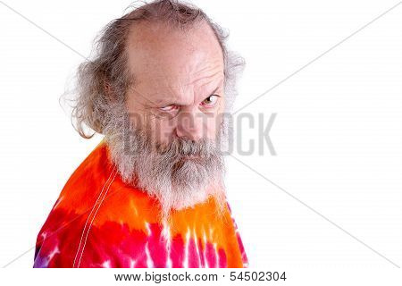 Tie Dye T-shirt Man Looking At You With Questioning
